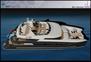 View large version of image: Sunreef Yachts to build 40 metre catamaran by Design Unlimited and MBT Nigel Gee