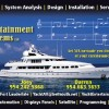 HiDef Satellite TV at Sea provided by Yacht Entertainment Systems