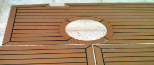 Synthetic Teak Decking for Yachts, Dingy and Ribs