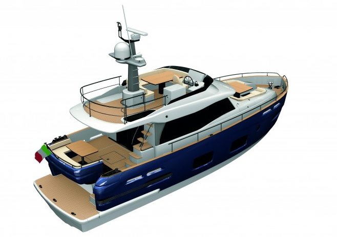 Azimut Magellano 50 is the first 50' motor yacht that can sail continuously, ...