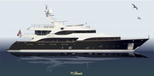 View large version of image: New Build Benetti Superyacht contracted by Jonathan Chapman of Northrop and Johnson
