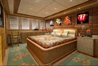 View large version of image: Patrick Knowles Designed ISA 207' Motoryacht Kolaha's Tropical Oasis Interior