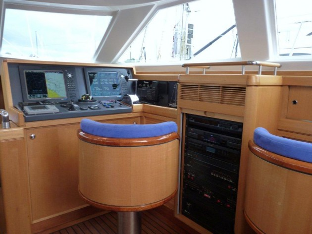View large version of image: Sailing Yacht Concerto's Navigation Center