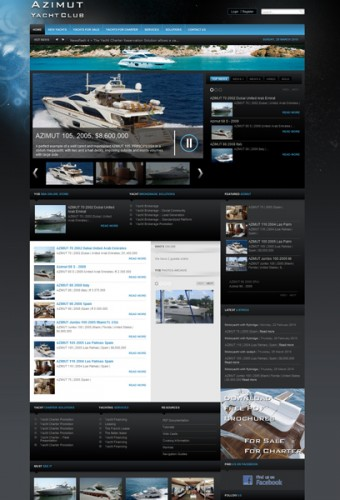 View large version of image: Site Example running our yacht brokerage solution