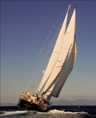 View large version of image: LE PIETRE, the best deal for a 35m motorsailer