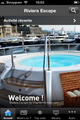 View large version of image: 1st French Riviera Charter App for iPhone & Android