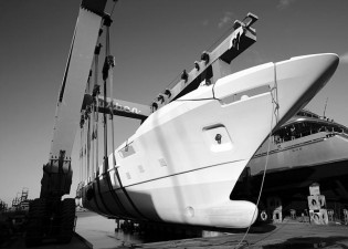 View large version of image: The Benetti Supreme BS001 semi-displacement motor yacht