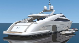 View large version of image: ISA begin building their new 140 motor yacht
