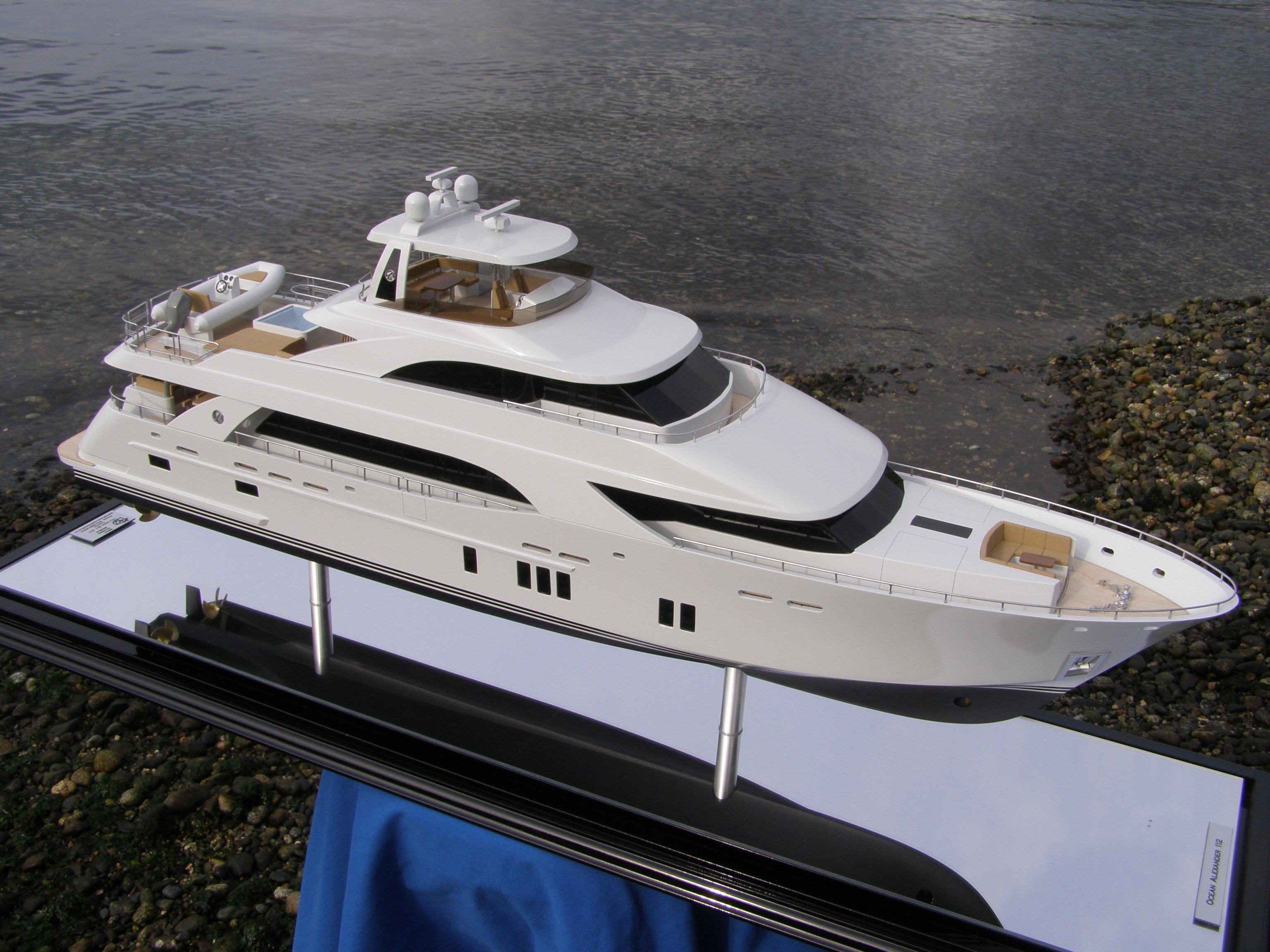 We have recently launched a new custom built scale model of a 112′ Ocean ...