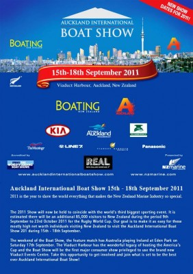 View large version of image: New Zealand Auckland International and Boat Show Rugby World Cup 2011