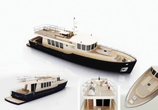 View large version of image: Ada Yacht Works laid the keel of 20m commuter motor yacht