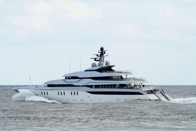 View large version of image: Image of Feadship luxury yacht Tango undergoing sea trials
