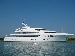 View large version of image: 54.9m (180') motor yacht Harbour Island launched by Newcastle Shipyards