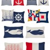 Indoor/Outdoor Nautical Throw Pillows from Thomas Paul