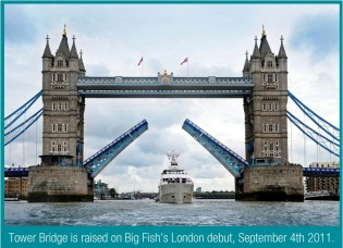 View large version of image: Superyacht BIG FISH in London