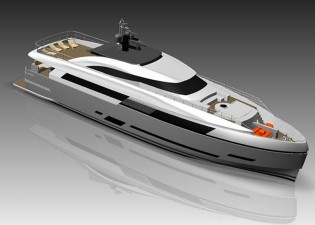 View large version of image: Columbus 125 Hybrid motor yacht