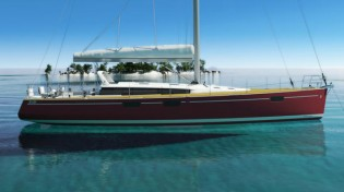 View large version of image: New 55ft Beneteau sailing yacht Sense at the 2011 Nautic Boat Show in Paris