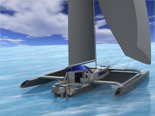 View large version of image: Bond trimaran yacht TNT 34