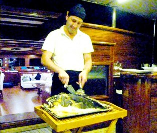 View large version of image: Outstanding Cuisine on 185' Charter Sailing Yacht Regina