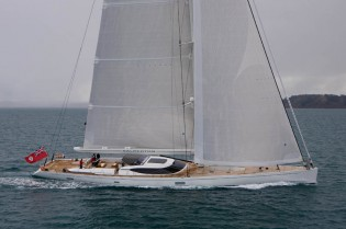 View large version of image: Southern Spars new mast and rigging for 45m Salperton IV superyacht