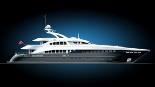 View large version of image: Heesen 44m all aluminium motor yacht Project Zentric sold with delivery due in 2012