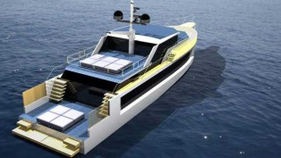 View large version of image: New 24m Eco-Friendly Motor Yacht Zero 80 by Green Yachts