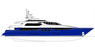 View large version of image: Espinosa 50m Luxury Yacht concept designed for Palmer Johnson