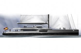 View large version of image: New Barracuda 52m sailing yacht concept