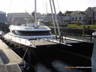 View large version of image: Sailing yacht Mashua Bluu in refit by JFA Yachts