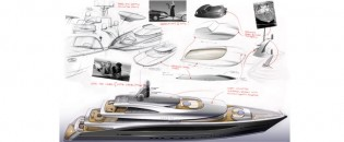 View large version of image: CMN Line 65 Yacht Concept created by Andrew Winch Designs