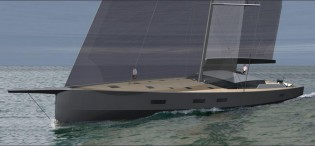 View large version of image: 30.48m sailing yacht MAXI DOLPHIN FC 100 by Finot Conq