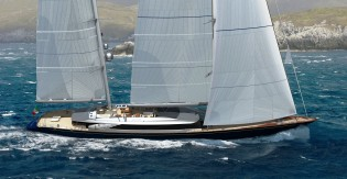 View large version of image: Perini Navi 3rd sales contract in 2011 - 69m sailing yacht C2227