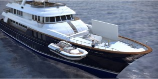 View large version of image: Technical launch of the 45m Ron Holland designed Super Yacht RMK 4500 (BN80)
