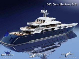 View large version of image: 242' NEW HORIZON Superyacht launched by Trinity Yachts