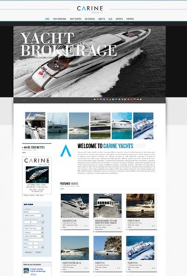 View large version of image: New version of Carine Yachts's web site launched