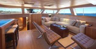 View large version of image: 42m Sarissa, just launched with a Rhoades Young Design interior