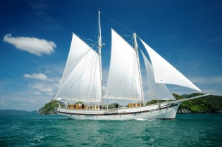View large version of image: Sailing yacht Raja Laut available for charter in Indonesia and the South Pacific