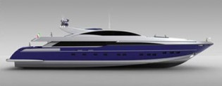 View large version of image: Codecasa 50m Hull C.120 Yacht Concept