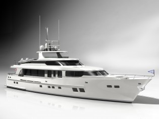 View large version of image: 85' Burger Yacht designed by Vripack for Burger Boat Company