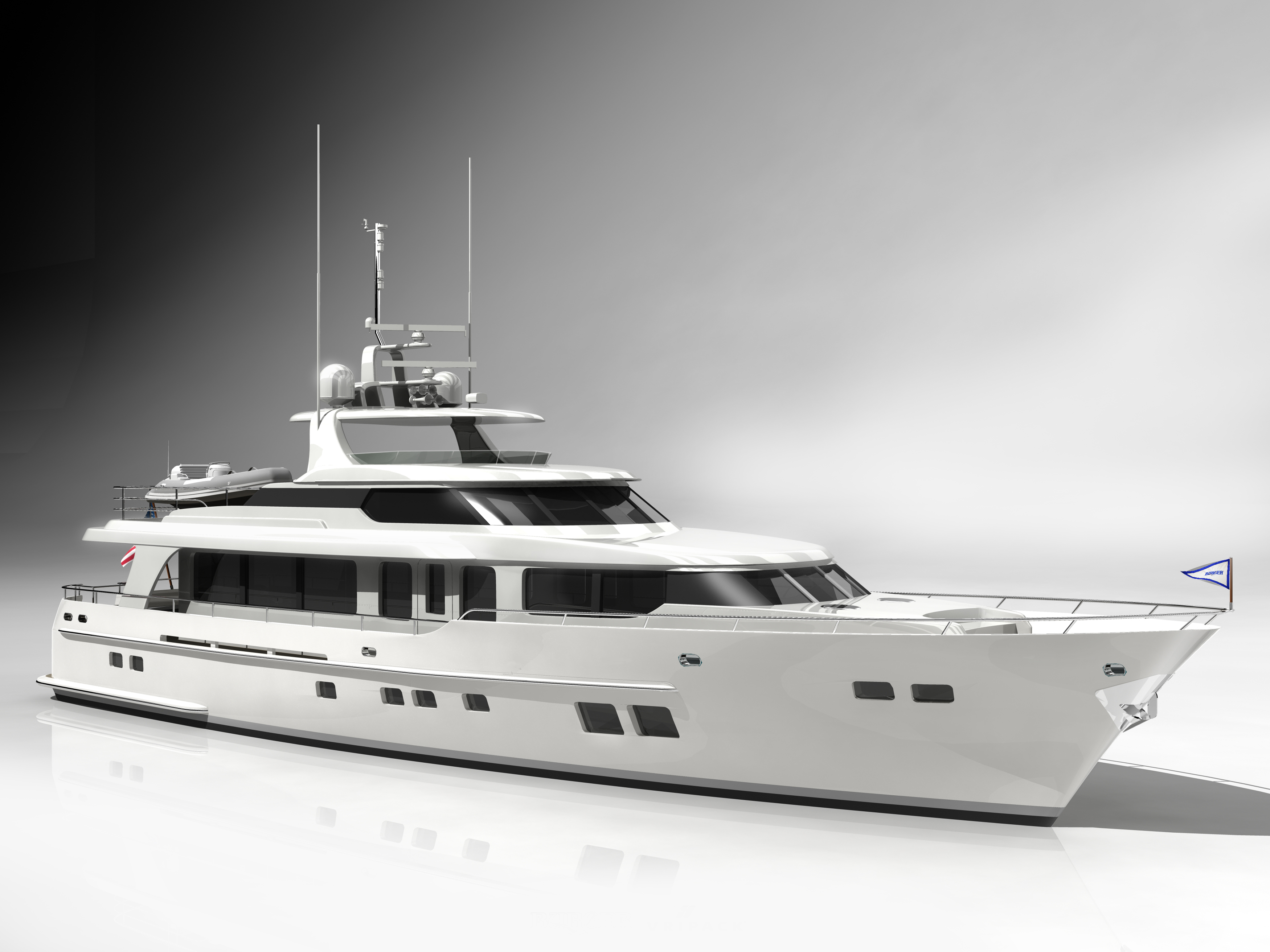 View large version of image: 85' Burger Yacht designed by Vripack for Burger ...