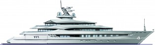 View large version of image: Andrew Moore designed SHE Yacht for Pegaso Marine