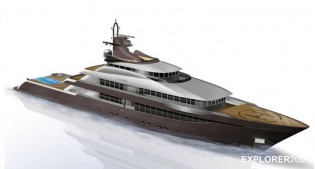 View large version of image: Columbus Explorer 200´ Yacht under construction by Palumbo due to be delivered in 2014