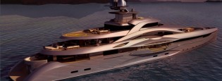 View large version of image: Mars yacht designed by H2 and engineered by Fincantieri Yachts