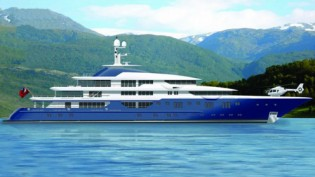 View large version of image: Nicki Yacht transferred at Lurssen Yachts