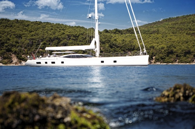 View large version of image: Oyster 100 Sarafin Yacht by Dubois amongst the ...