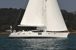 View large version of image: The Winner of the 2012 'Best Luxury Cruiser'award - Oyster 625 Blue Jeannie Yacht