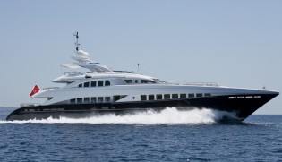 View large version of image: 44m Yacht Lady L (ex Project Zentric) by Heesen Launched