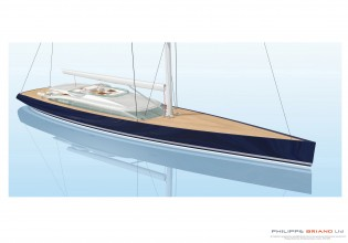 View large version of image: Philippe Briand 170 Flybridge Sloop yacht