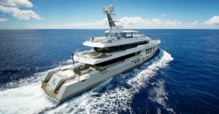 View large version of image: 45m Expedition Charter Yacht BIG FISH enroute to the South pacific – available for charter in Tahiti