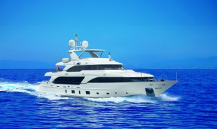 View large version of image: 36.90m Classic 121 Custom Yacht Domani by Benetti presented at Miami Boat Show 2012